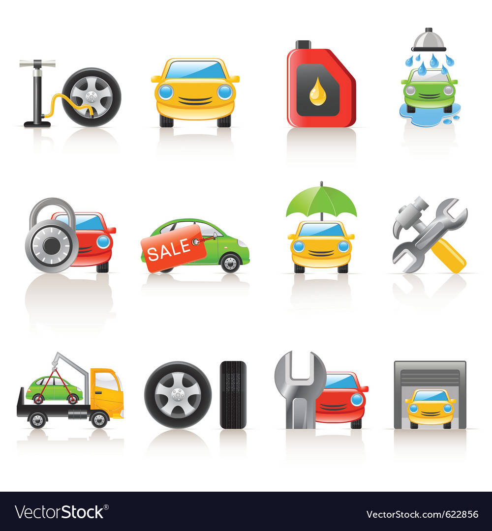 Auto service icons vector | Price: 3 Credit (USD $3)