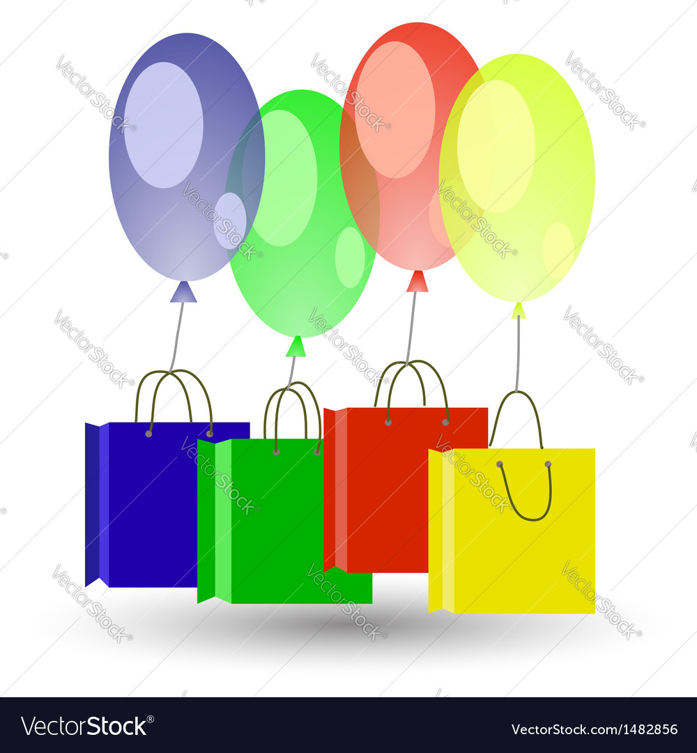 Balloons and boxes vector | Price: 1 Credit (USD $1)