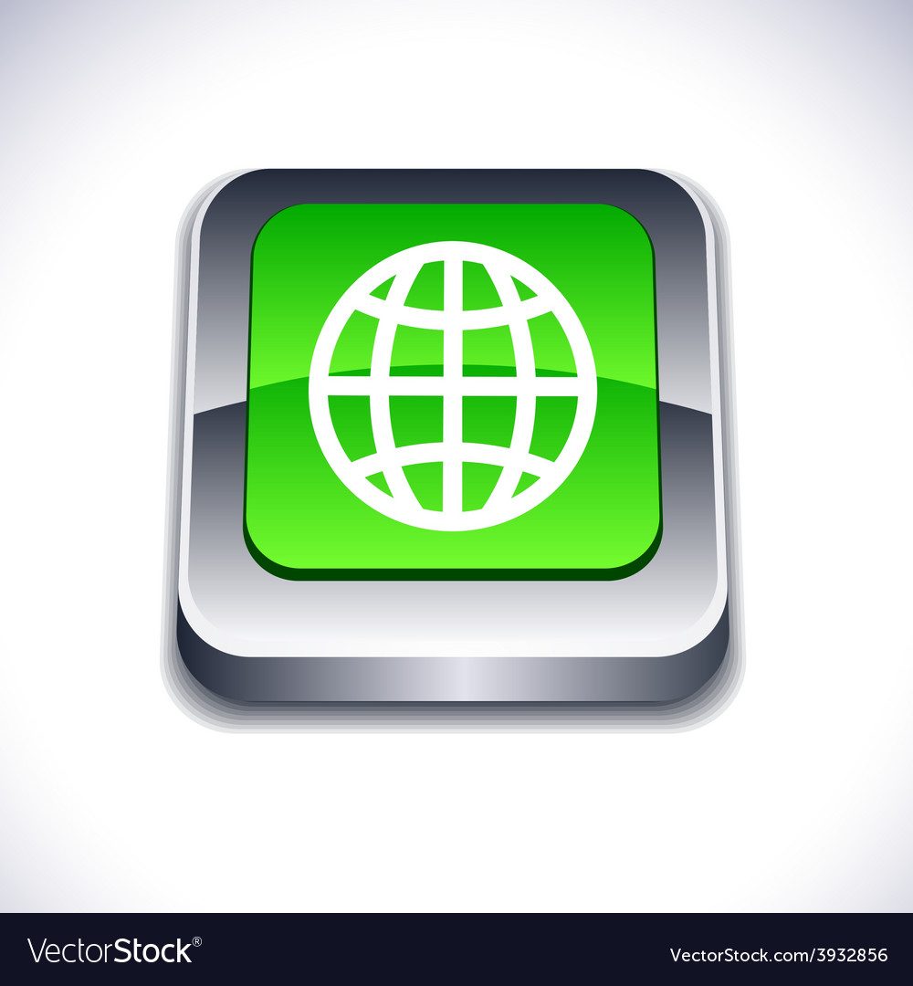 Earth 3d button vector | Price: 1 Credit (USD $1)