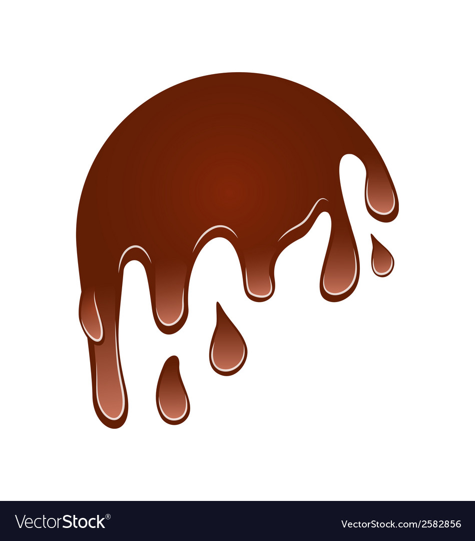 Flow down chocolate blot isolated on white vector   Price: 1 Credit (USD $1)
