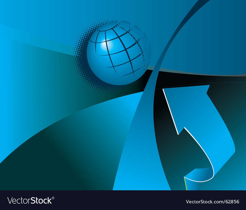 Globe and arrow vector | Price: 1 Credit (USD $1)