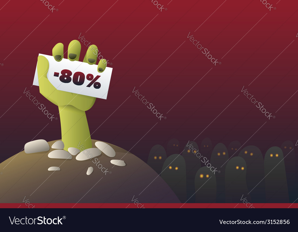 Halloween-zombie-sale-1 vector | Price: 1 Credit (USD $1)
