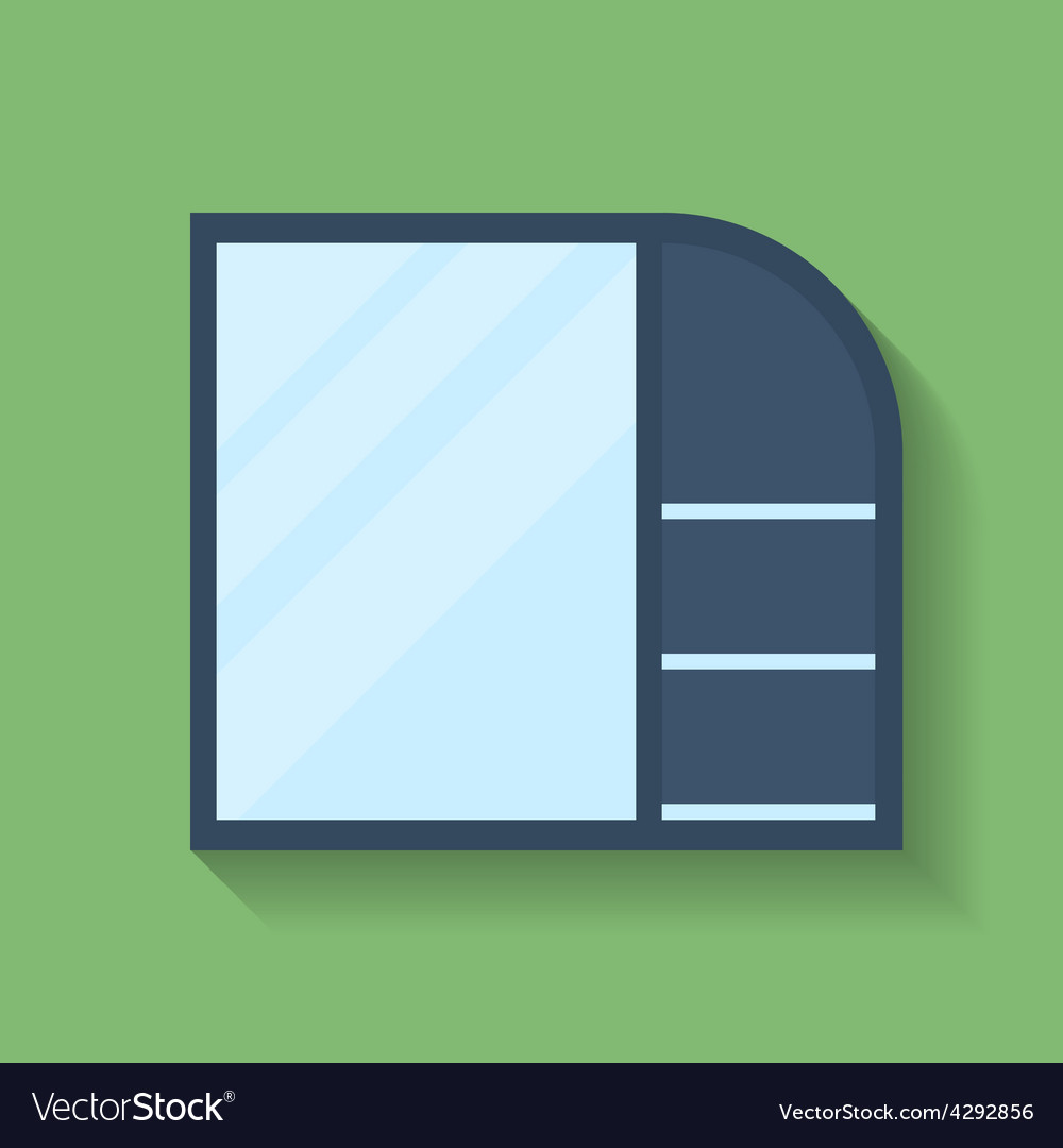 Icon of cabinet flat style vector | Price: 1 Credit (USD $1)