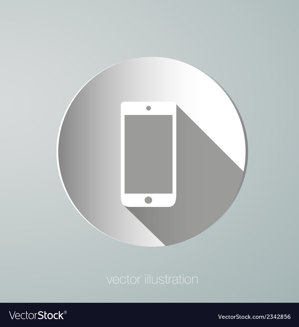 Paper phone icon vector | Price: 1 Credit (USD $1)