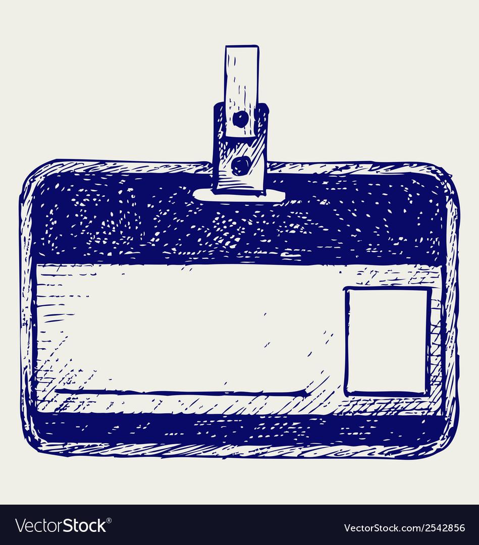 Plastic name tag vector | Price: 1 Credit (USD $1)