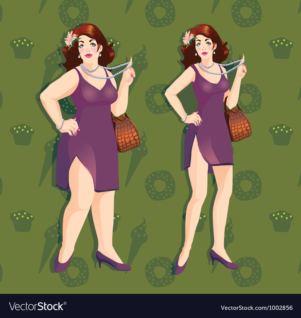 Plus size model vector | Price: 3 Credit (USD $3)