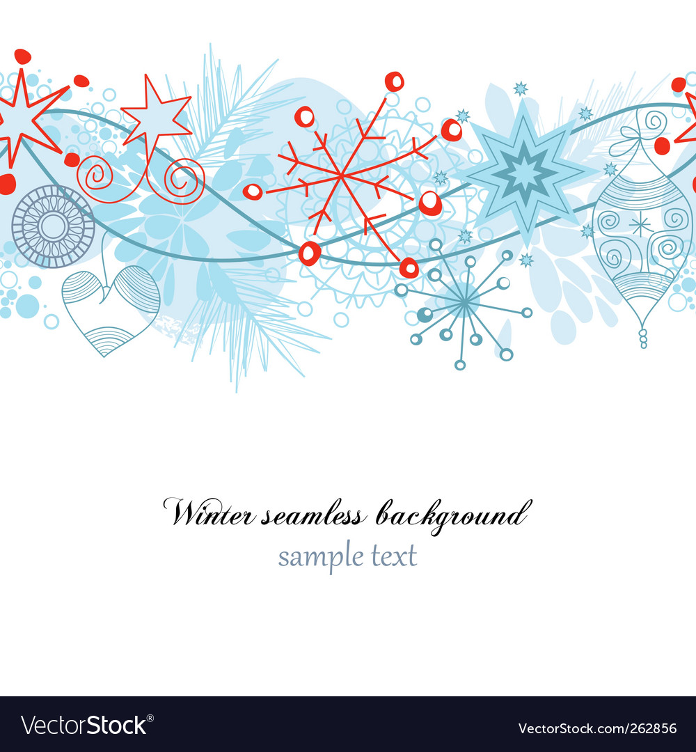 Winter seamless background vector | Price: 1 Credit (USD $1)