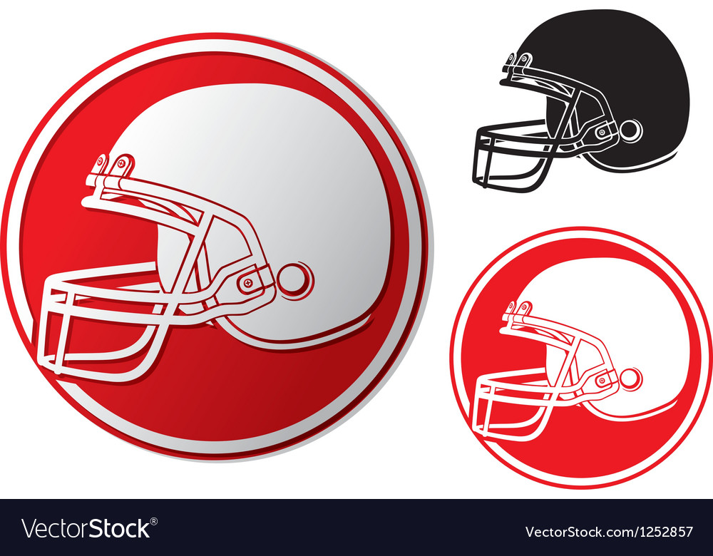 American football helmet icon vector | Price: 1 Credit (USD $1)