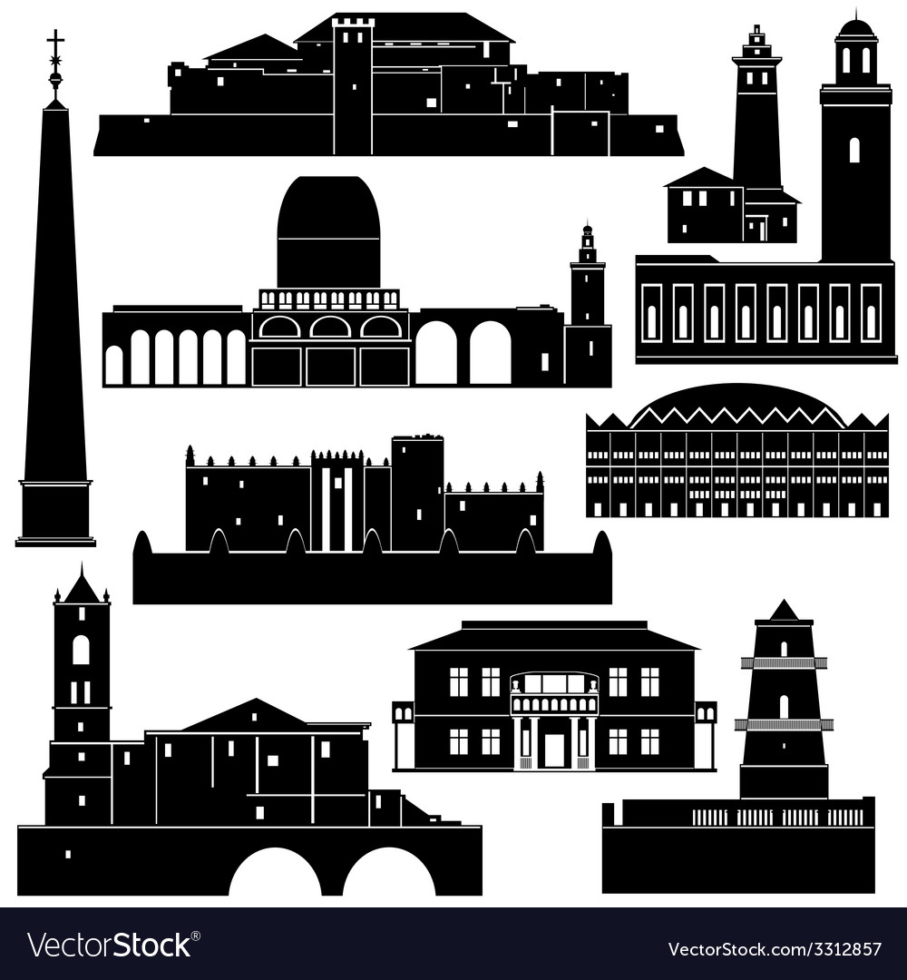 Architecture of the world 5 vector | Price: 1 Credit (USD $1)