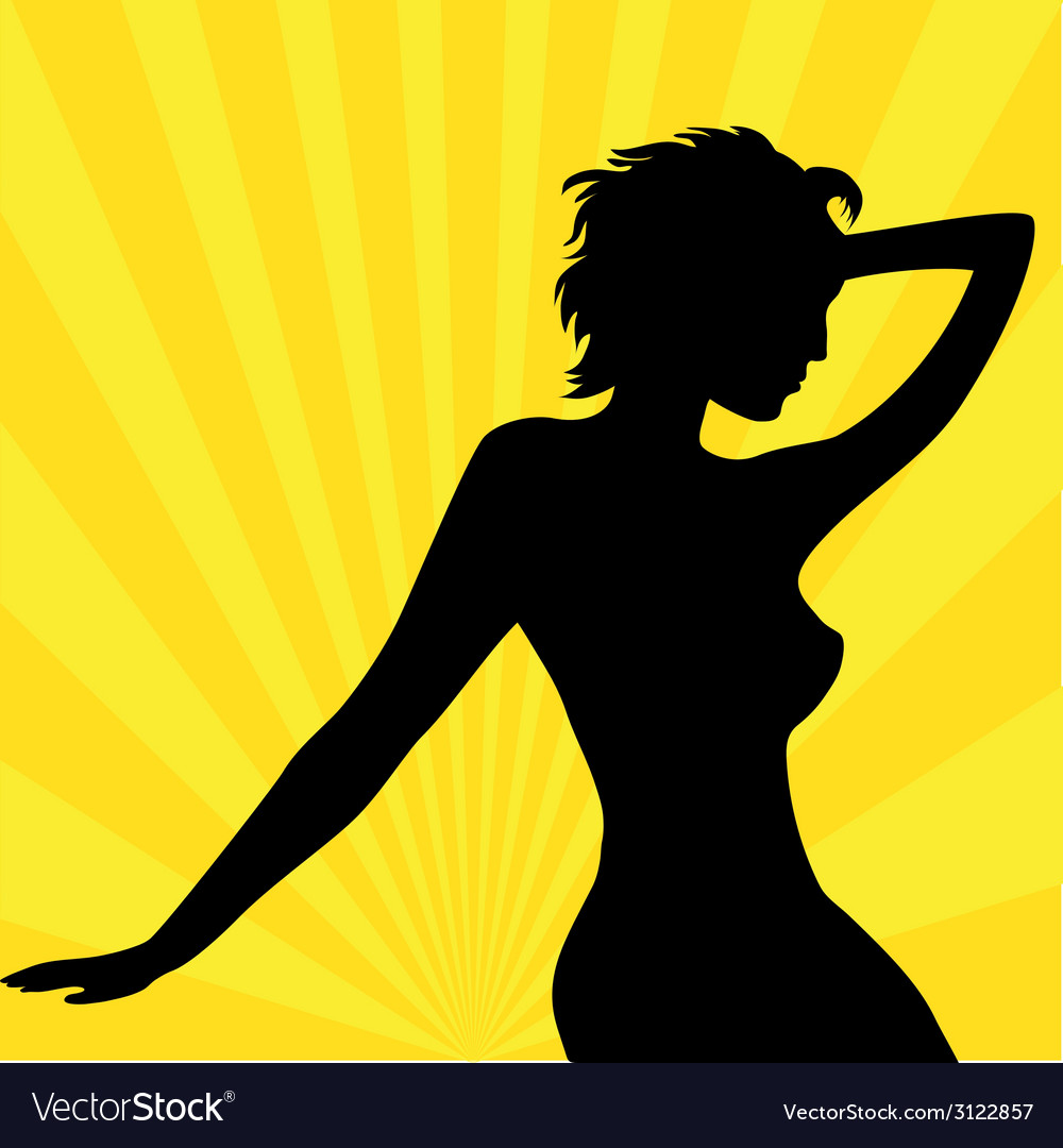 Beautiful woman wallpaper vector | Price: 1 Credit (USD $1)