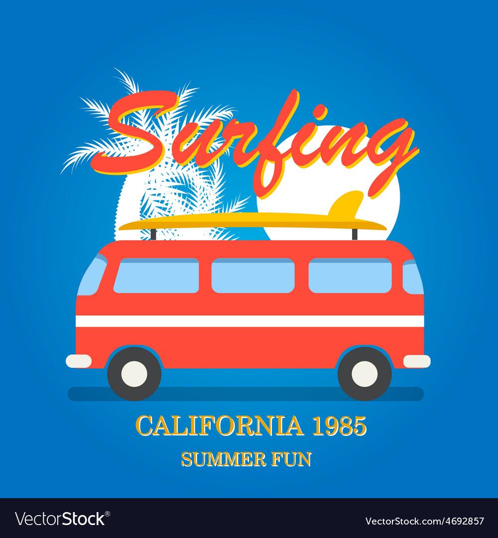 California surfing typography vector | Price: 1 Credit (USD $1)