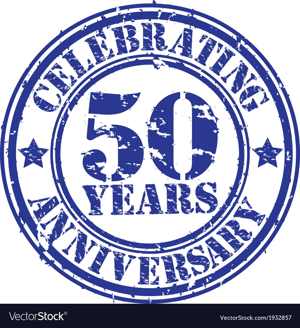 Celebrating 50 years anniversary grunge rubber sta vector | Price: 1 Credit (USD $1)