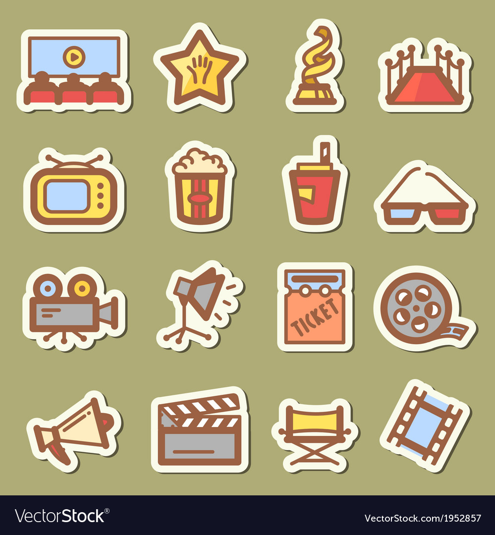 Cinema tags vector | Price: 1 Credit (USD $1)