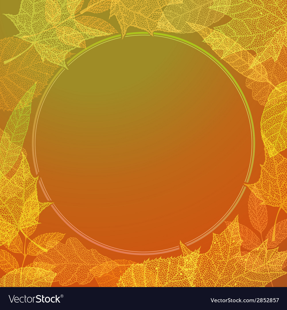 Colourful autumn background vector | Price: 1 Credit (USD $1)