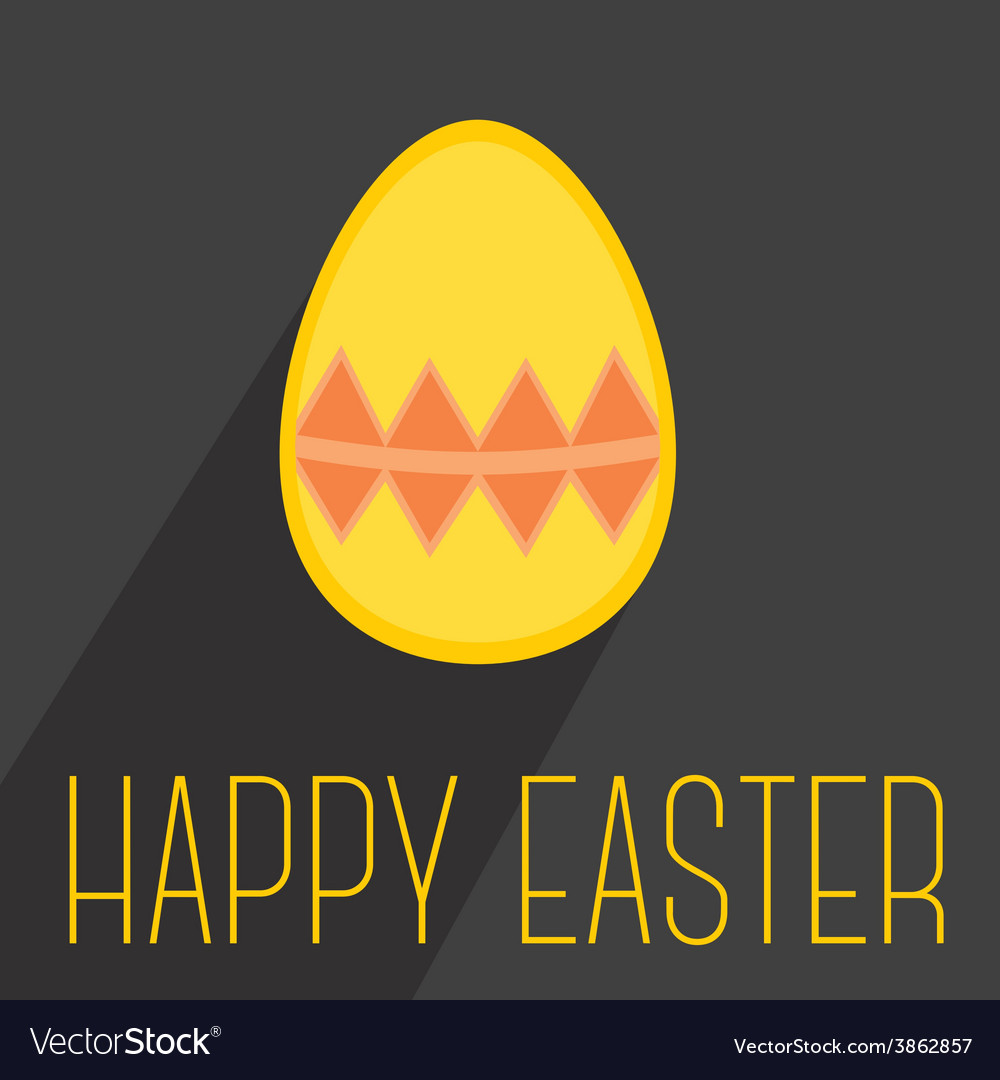 Flat easter egg with wishes on dark background vector | Price: 1 Credit (USD $1)