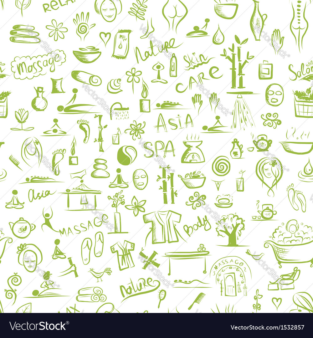 Massage and spa concept seamless pattern for your vector | Price: 1 Credit (USD $1)