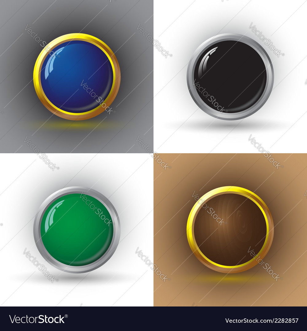 Set of web buttons vector | Price: 1 Credit (USD $1)