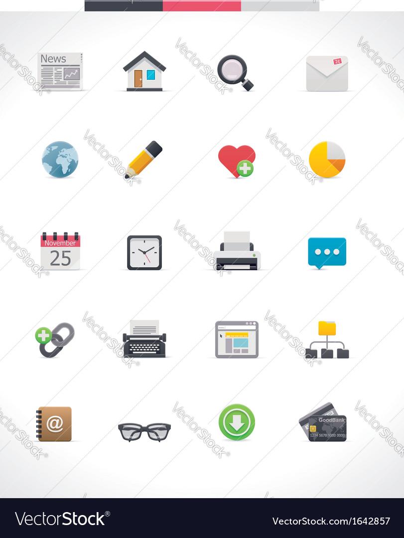 Web page icon set vector | Price: 1 Credit (USD $1)