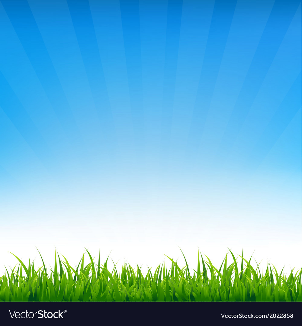 Blue sky with grass vector | Price: 1 Credit (USD $1)