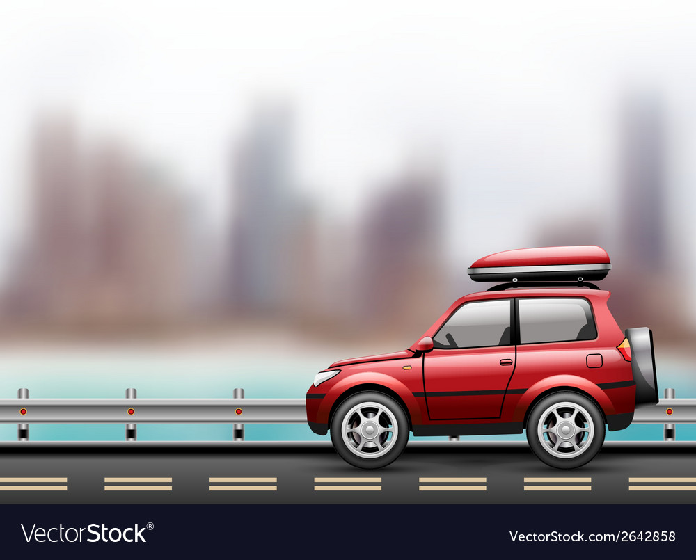 Car in the city vector | Price: 1 Credit (USD $1)