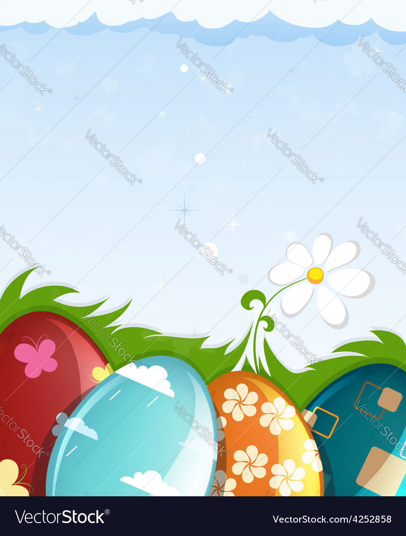 Colorful painted easter eggs vector | Price: 3 Credit (USD $3)