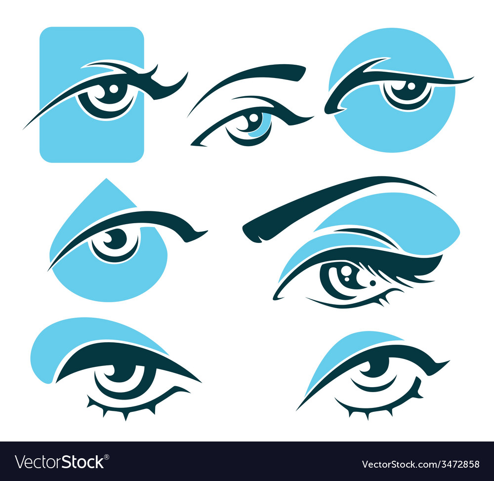 Eye and vision symbols vector | Price: 1 Credit (USD $1)