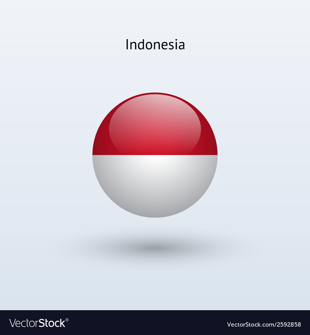 Indonesia round flag vector | Price: 1 Credit (USD $1)