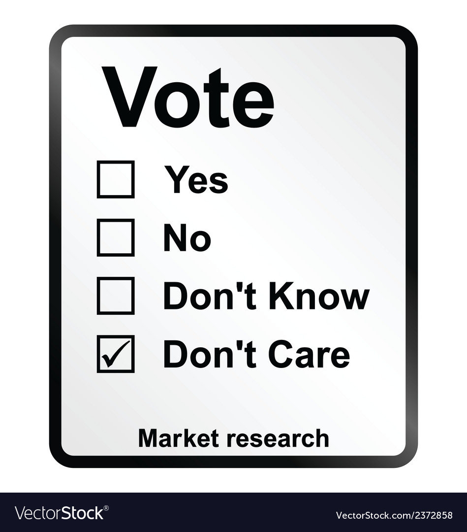 Market research vote sign vector | Price: 1 Credit (USD $1)