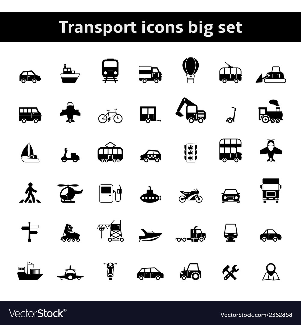 Set of universal transportation vehicles vector | Price: 1 Credit (USD $1)