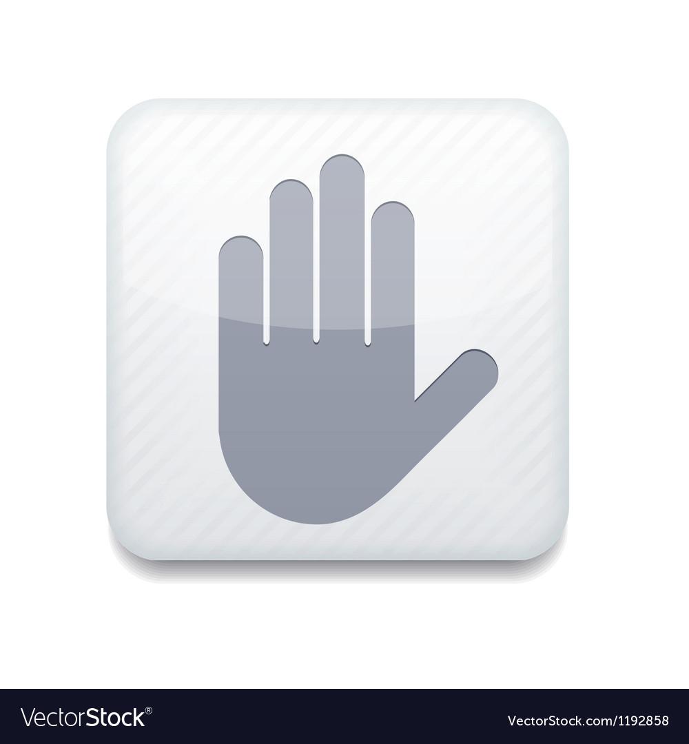 Stop icon vector | Price: 1 Credit (USD $1)
