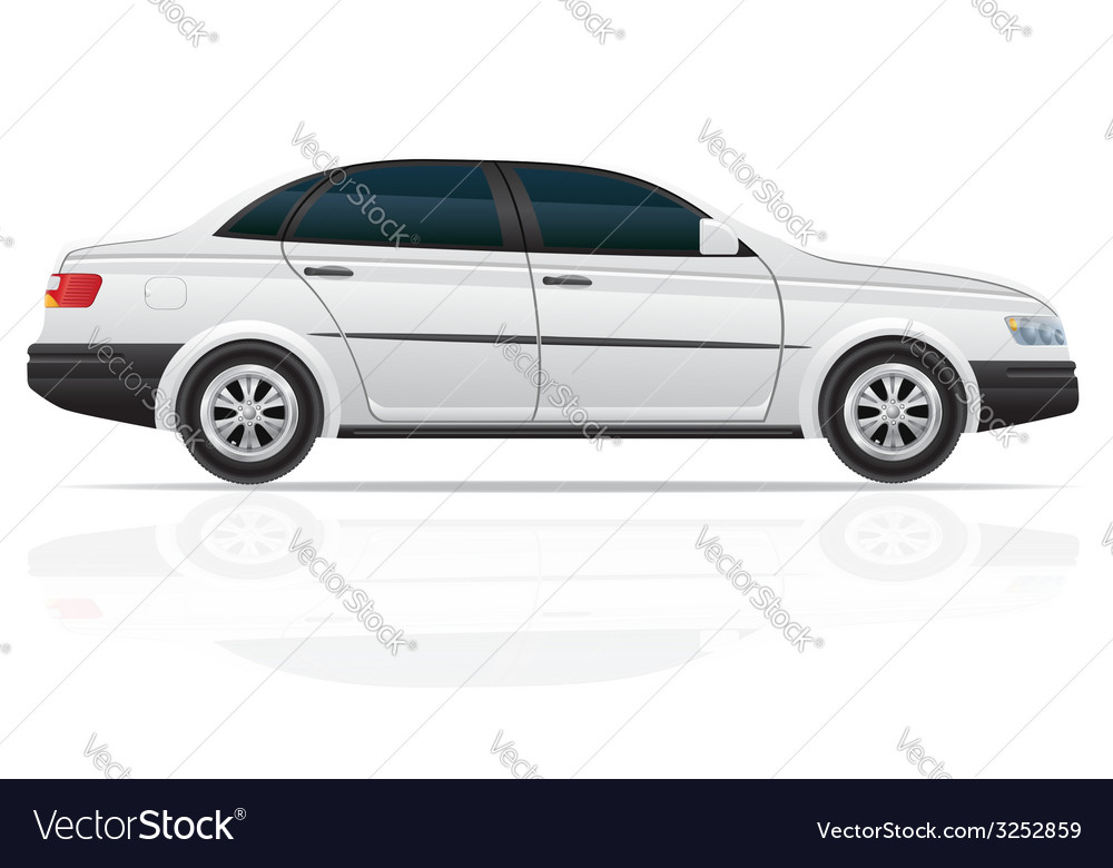 Car sedan vector | Price: 3 Credit (USD $3)
