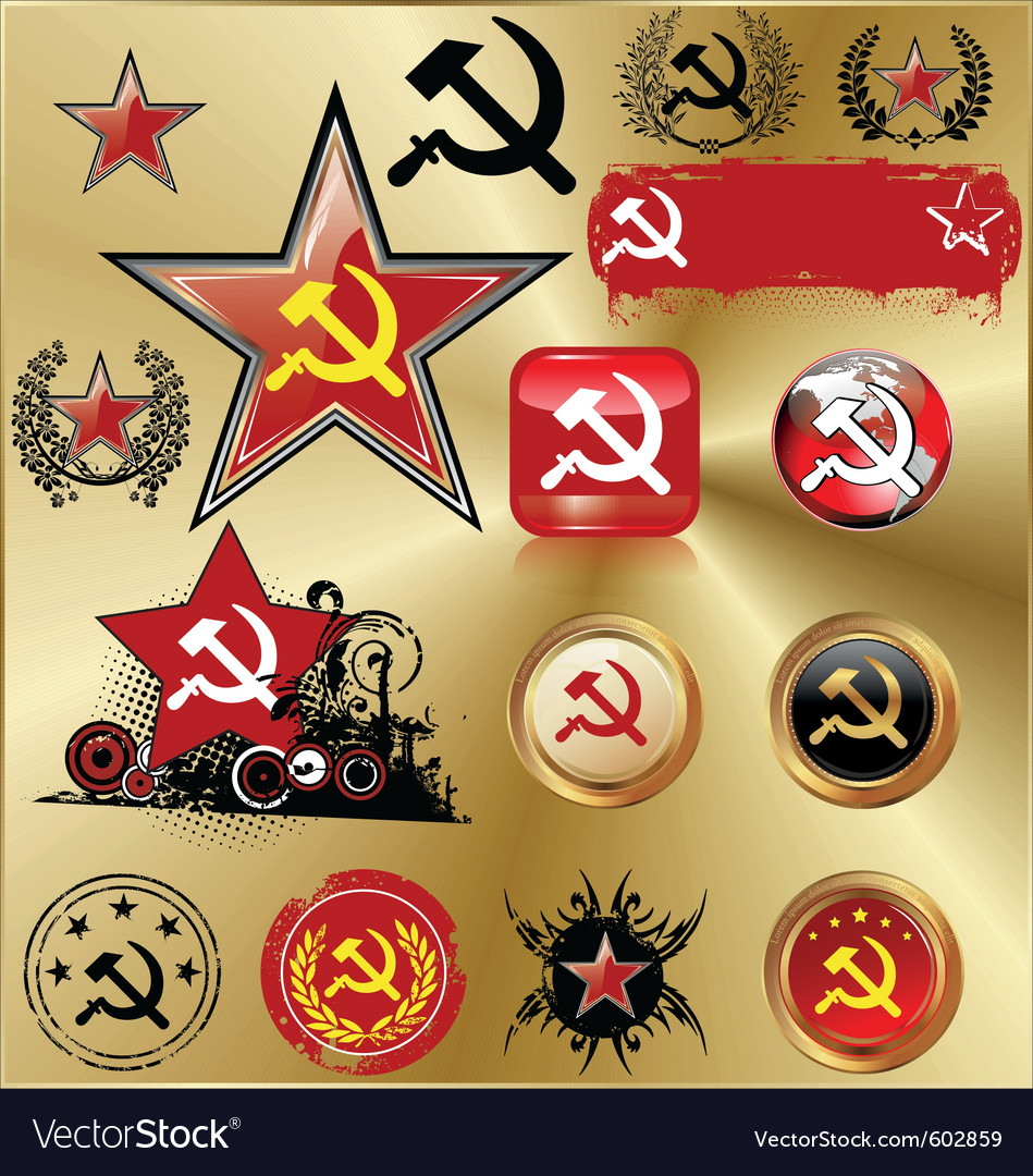 Communist signs vector | Price: 1 Credit (USD $1)