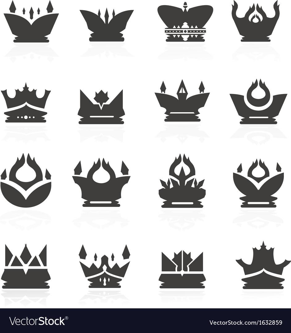 Crown set for halloween vector | Price: 1 Credit (USD $1)