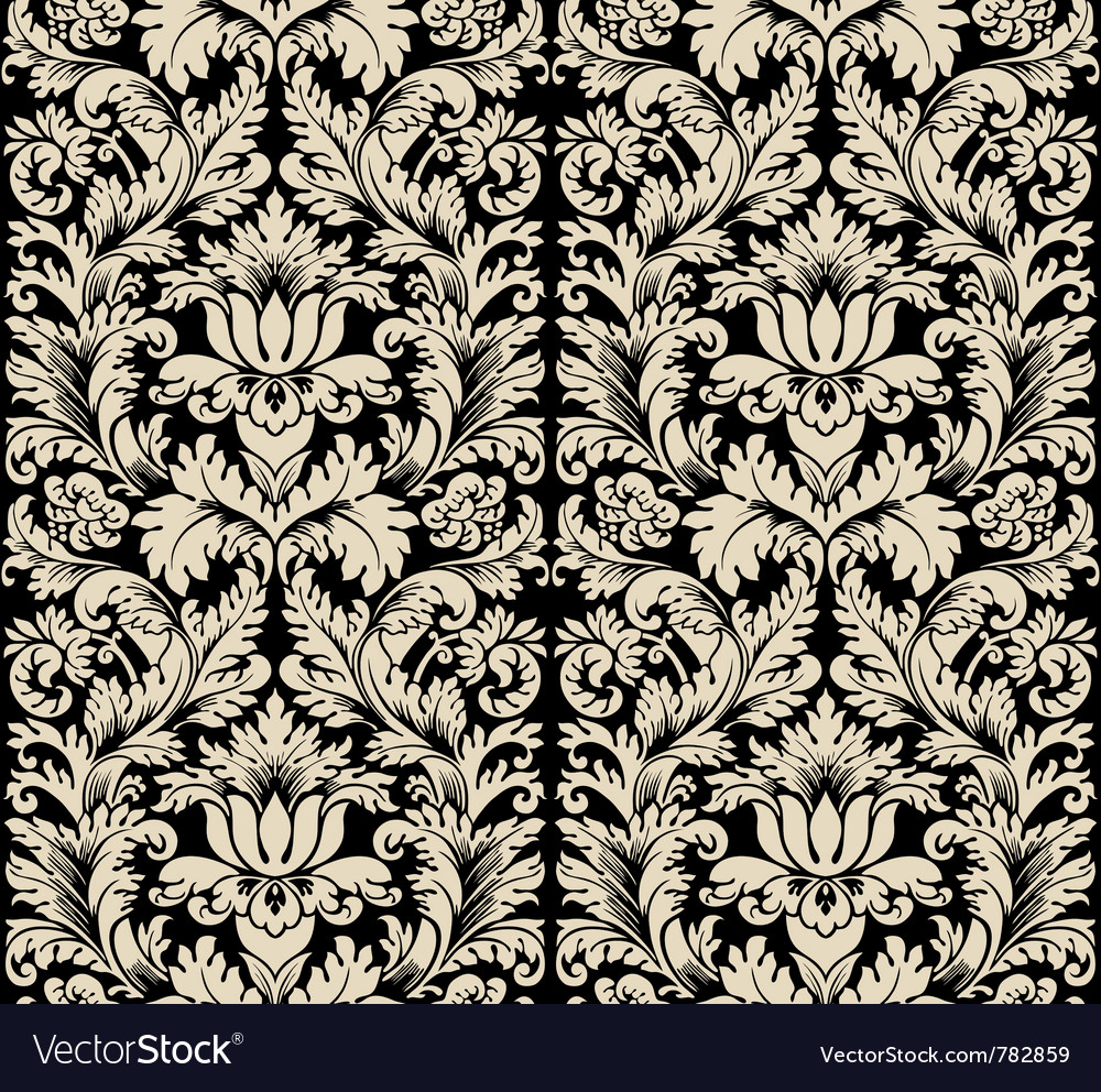 Damask semless silk vector | Price: 1 Credit (USD $1)