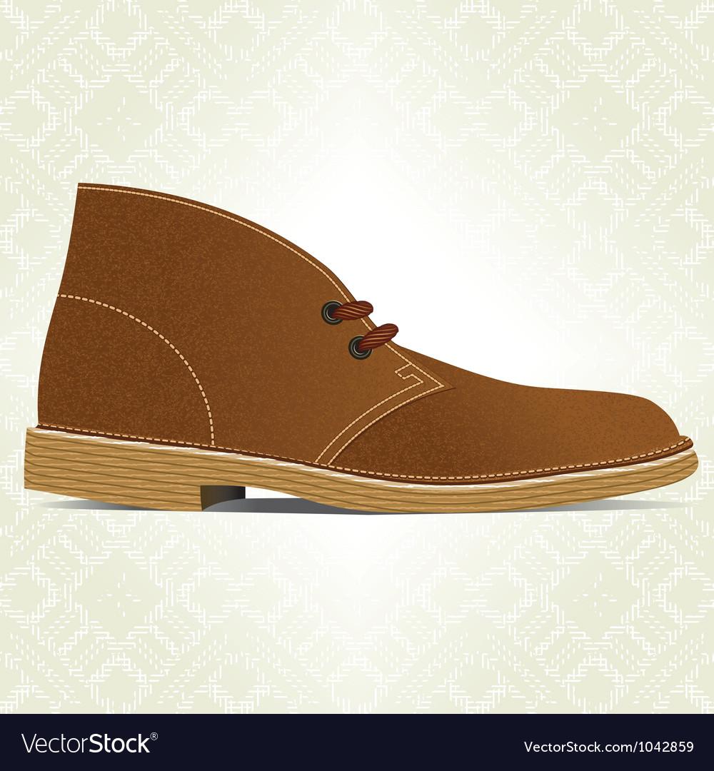 Desert boot vector | Price: 1 Credit (USD $1)