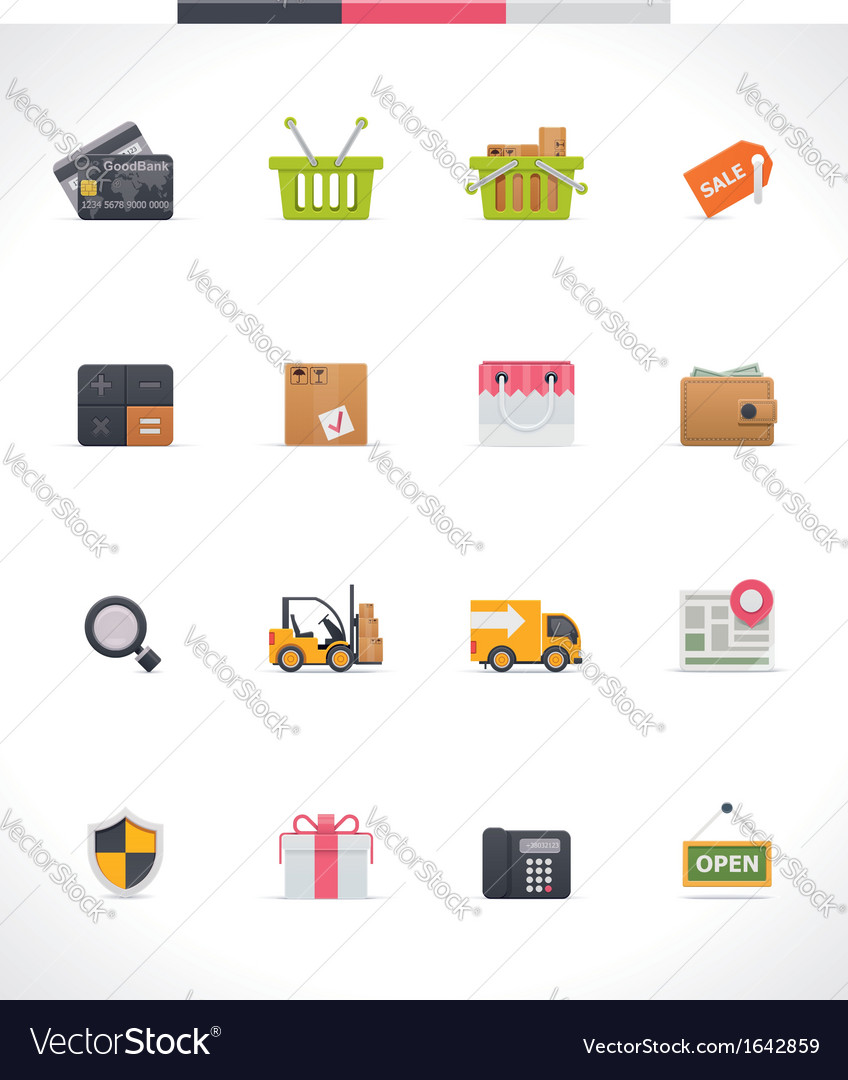 E-commerce icon set vector | Price: 1 Credit (USD $1)