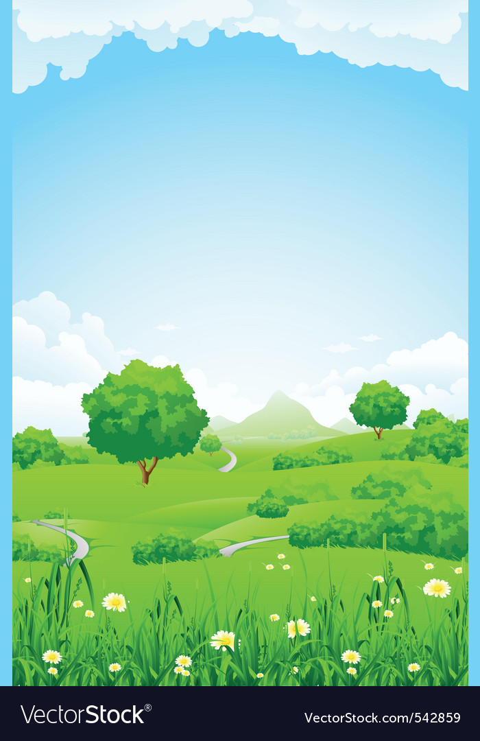 Green fileds background vector | Price: 1 Credit (USD $1)
