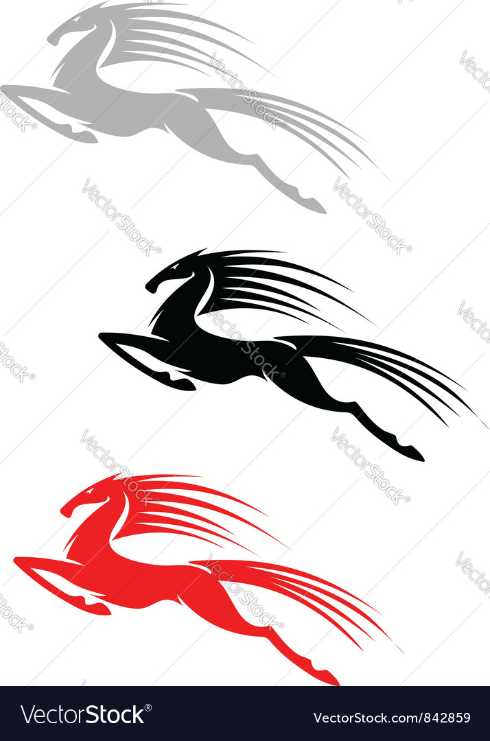 Jumping mustang symbol vector | Price: 1 Credit (USD $1)