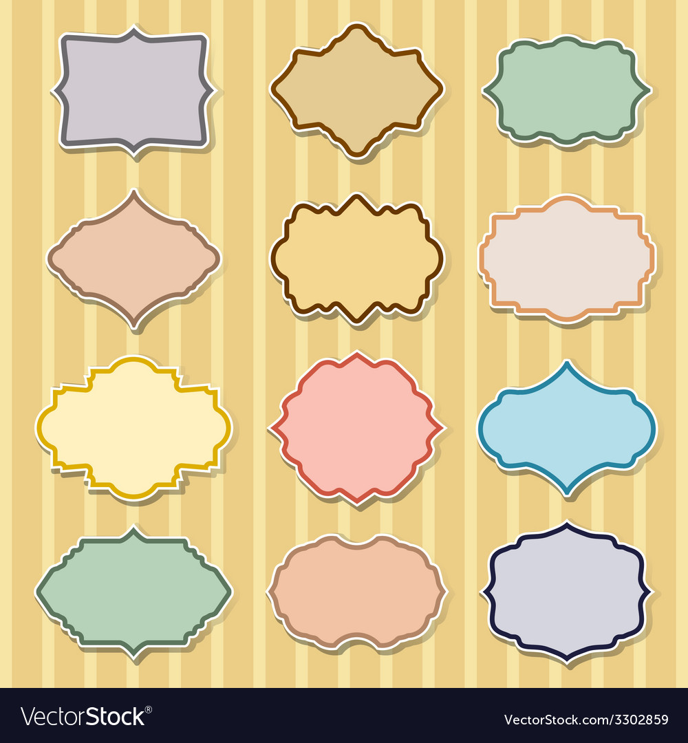 Set of color frames vector | Price: 1 Credit (USD $1)
