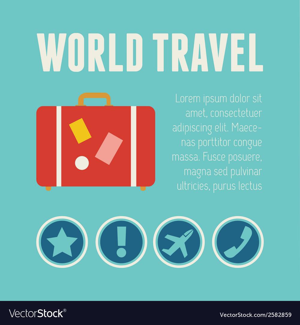 Travel infographic element vector   Price: 1 Credit (USD $1)