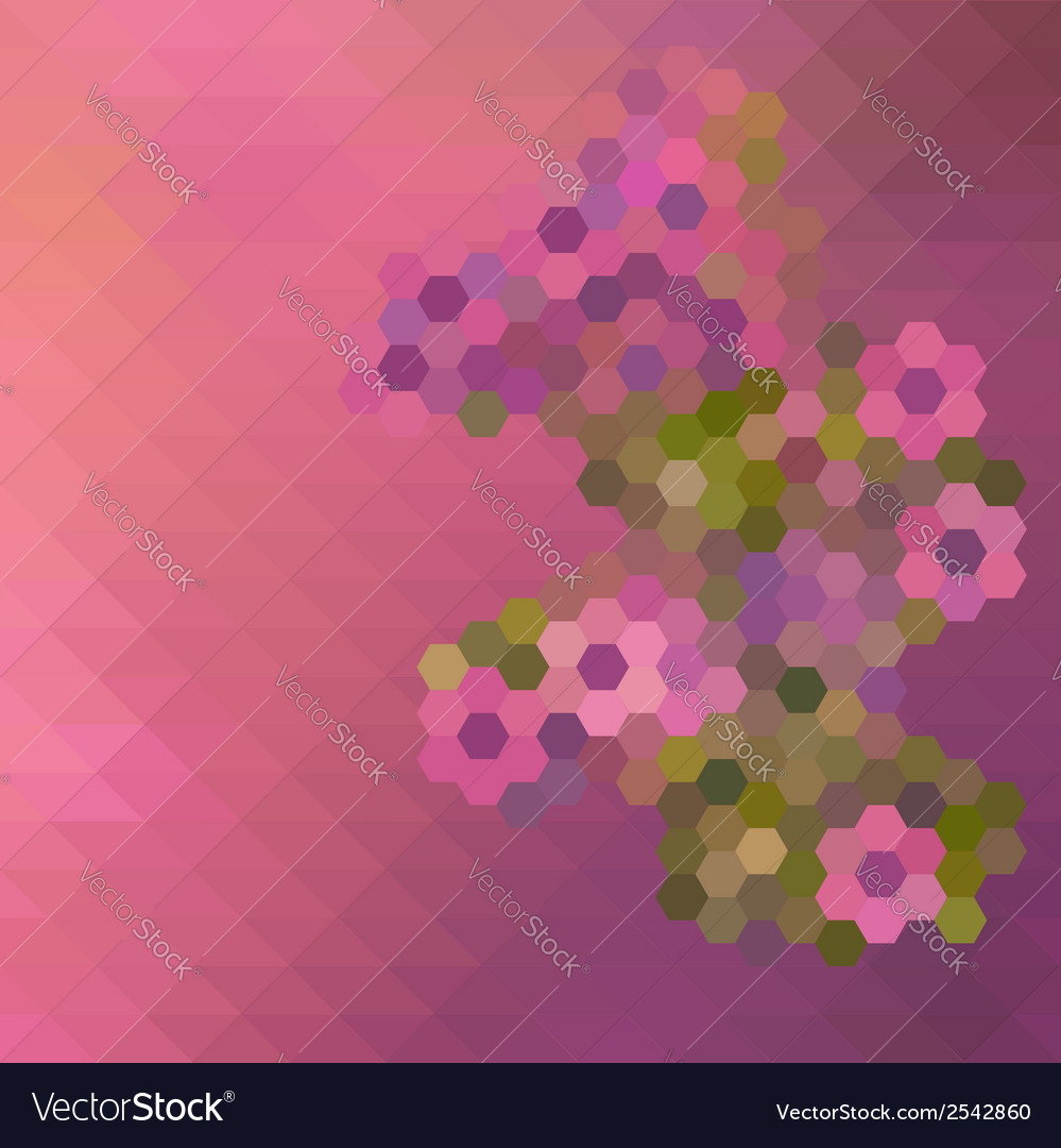 Abstract mosaic floral pattern background vector | Price: 1 Credit (USD $1)