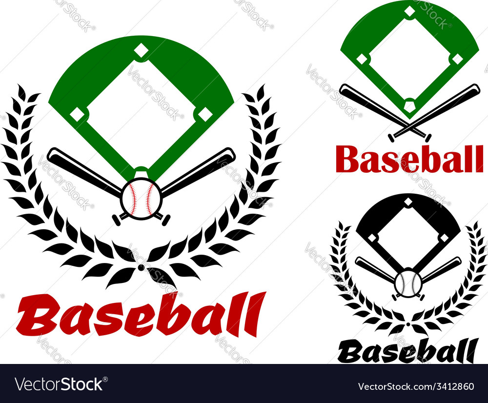 Baseball heraldic emblems or badges vector | Price: 1 Credit (USD $1)