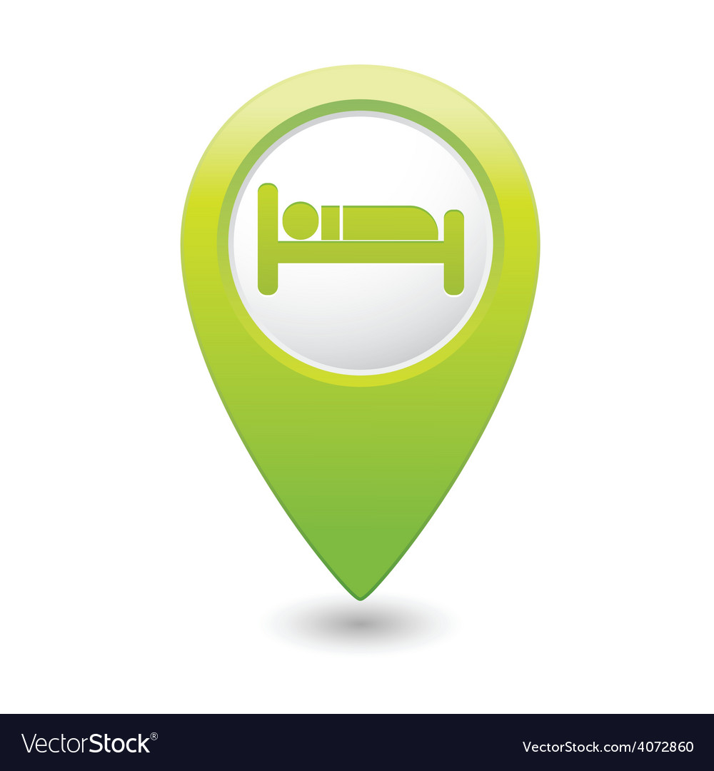Bed2 green map pointer vector   Price: 1 Credit (USD $1)