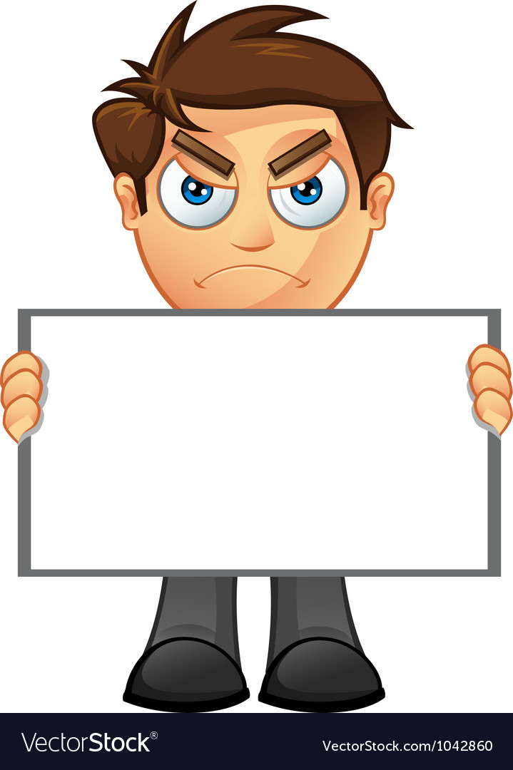 Business man blank sign 3 vector | Price: 1 Credit (USD $1)