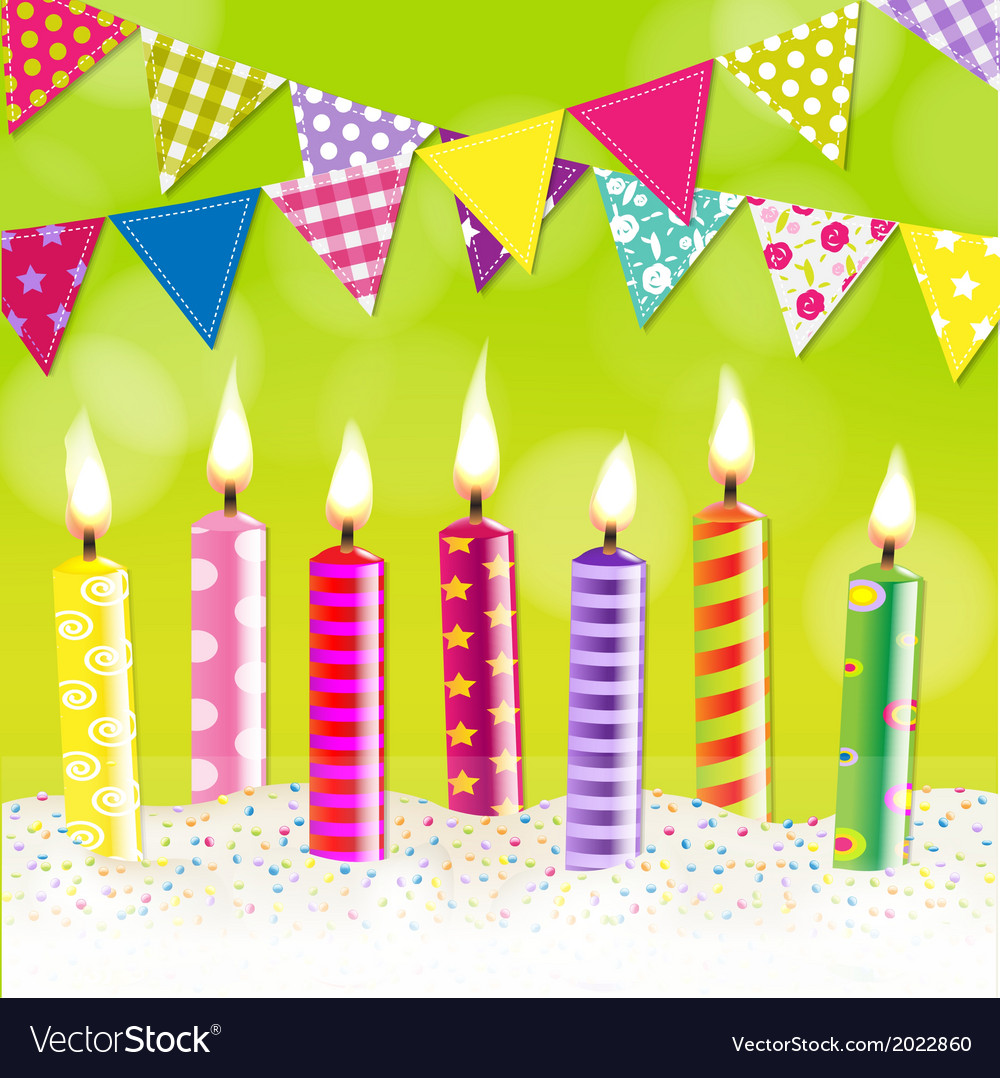 Candles bunting garland vector | Price: 1 Credit (USD $1)