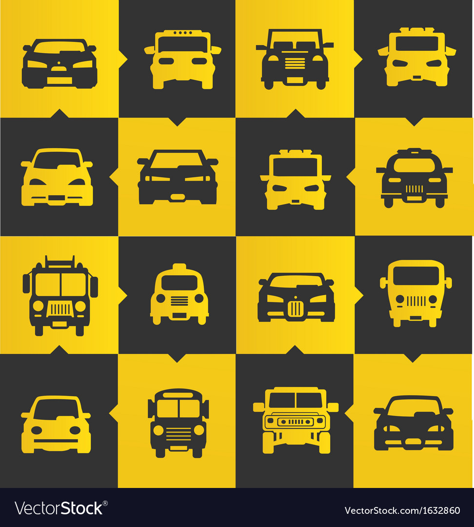 Car icons set vector | Price: 1 Credit (USD $1)