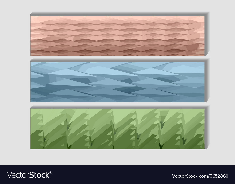 Geometrical banners vector