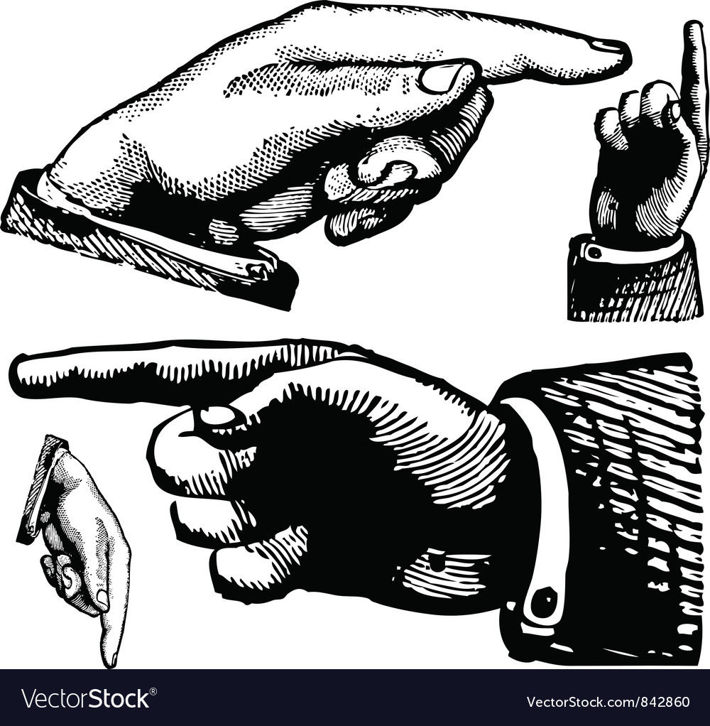 Hand pointing vector | Price: 1 Credit (USD $1)