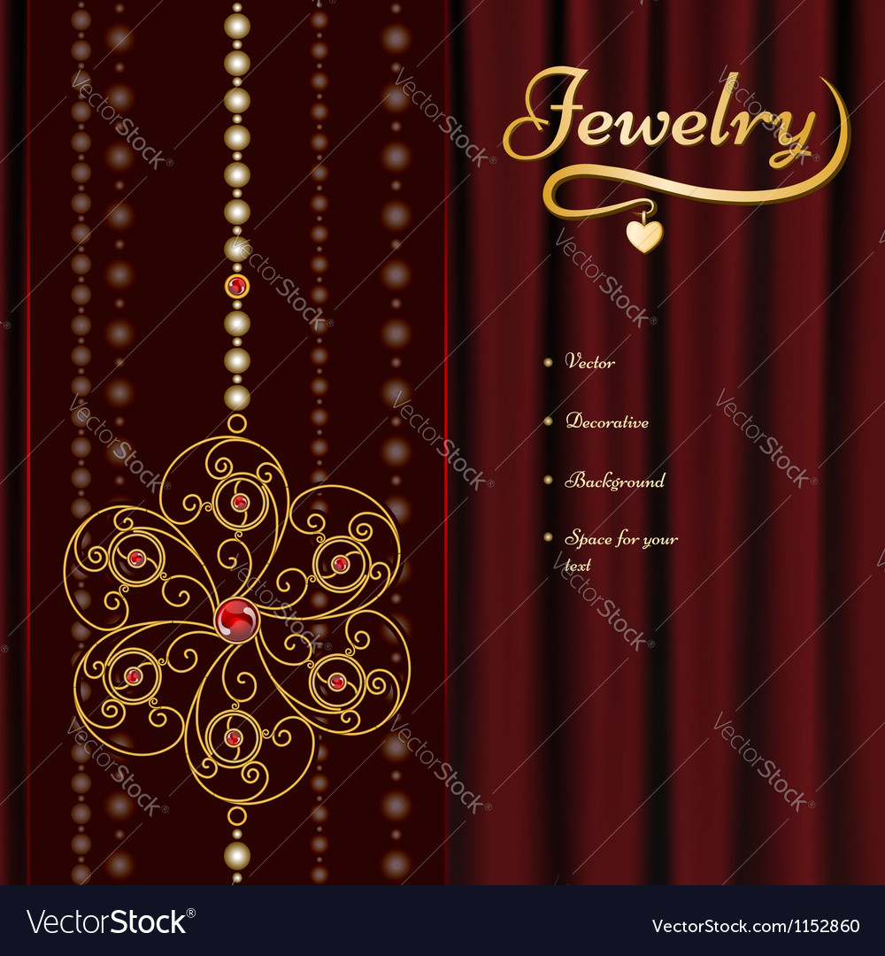 Jewelry background vector | Price: 1 Credit (USD $1)