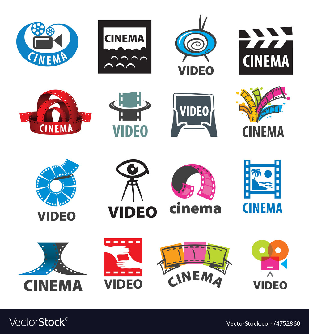 Large set of logos for video production vector | Price: 1 Credit (USD $1)